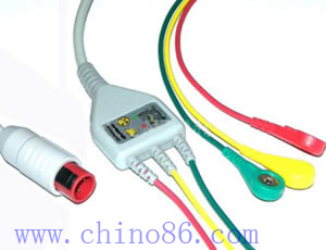 BIONET one piece three lead ECG cable with leadwire